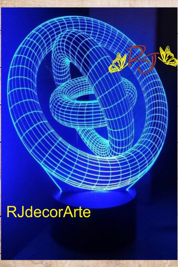 lampara led 3d geométricos