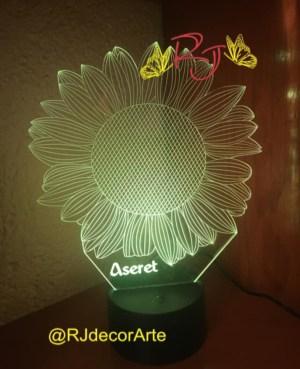 lampara led 3D girasol