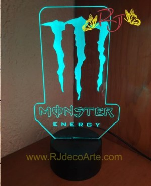 lampara led monster energy