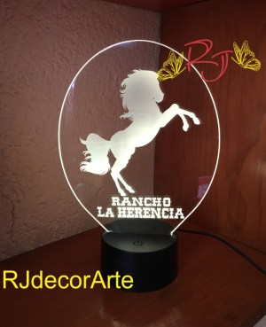Lampara led logo rancho