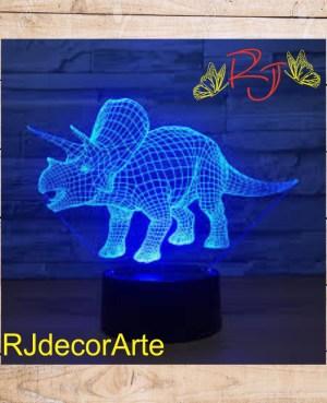 Lampara led Triceratops