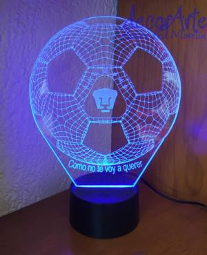 lampara led personalizada Pumas