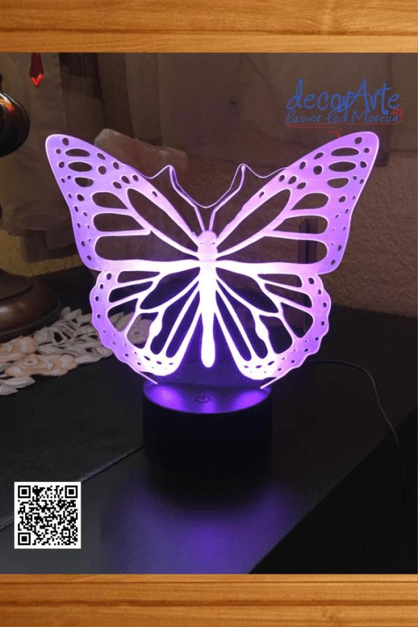 lampara led mariposa monarca
