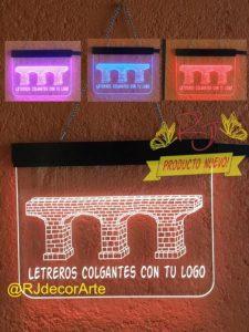 Letreros led colgantes