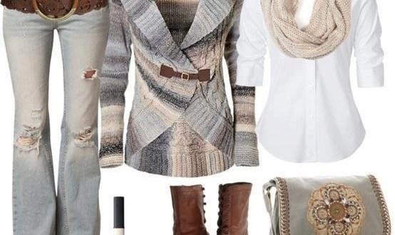 تشكيلة منسقة لملابس صبايا شتاء 2014