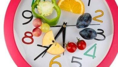 الاوقات الصحيحة للاكل
