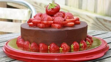 Photo of كعكة الشوكولا مع الفراولة