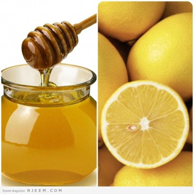 قناع العسل و الليمون