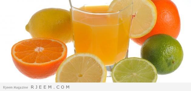 خلطة الليمون و البرتقال