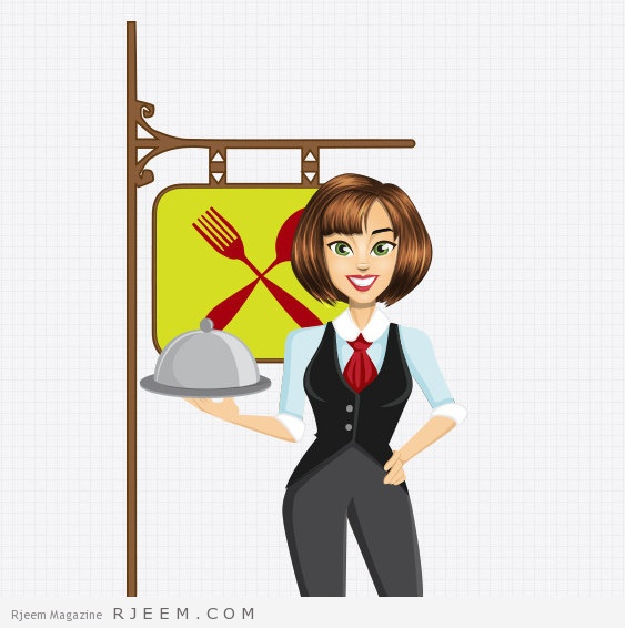 Vector_Waitress_Character_Preview