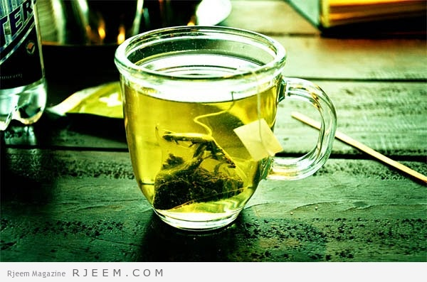 الشاي الاخضر والزنجبيل للتنحيف
