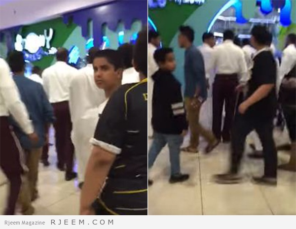 Photo of فيديو: عصير يتسبب في مشاجرة عائلية بمول شهير في جازان
