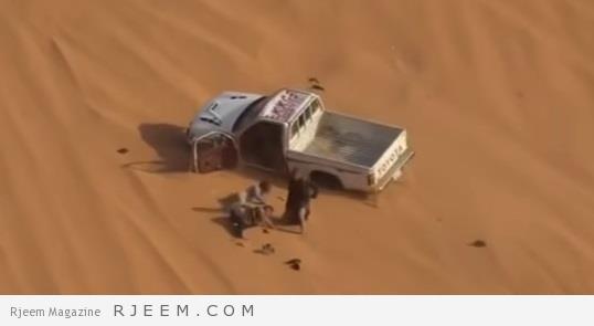 Photo of فيديو: انقلاب سيارة خلال ممارسة التطعيس يقذف بركابها الثلاثة خارجها
