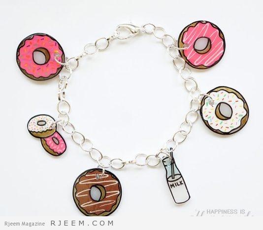 Donut Shrinky Dink Charm Bracelet