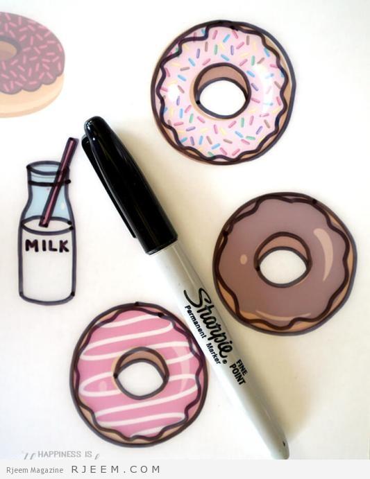 Tracing Donut Clip Art for Shrinky Dink Charm Bracelet