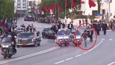 Photo of فيديو: لحظة اعتراض شاب لموكب ملك المغرب خلال استقباله العاهل الأردني.. هكذا تعامل الأمن معه