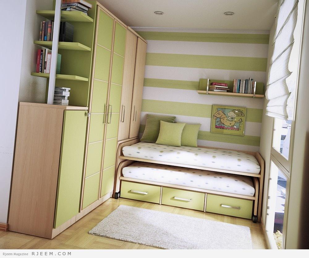 غرف نوم أنيقة للأطفال تناسب المساحات الضيقة مجلة رجيم