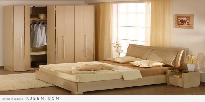 احدث غرف نوم عرسان كاملة موحدة اللون