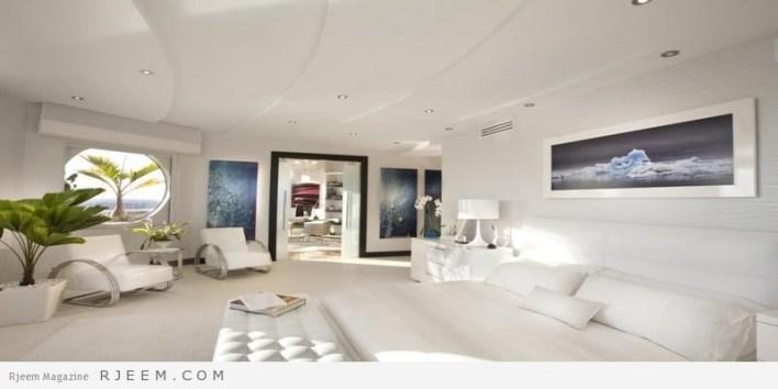غرف نوم باللون الابيض كفاخم الاوتيلات