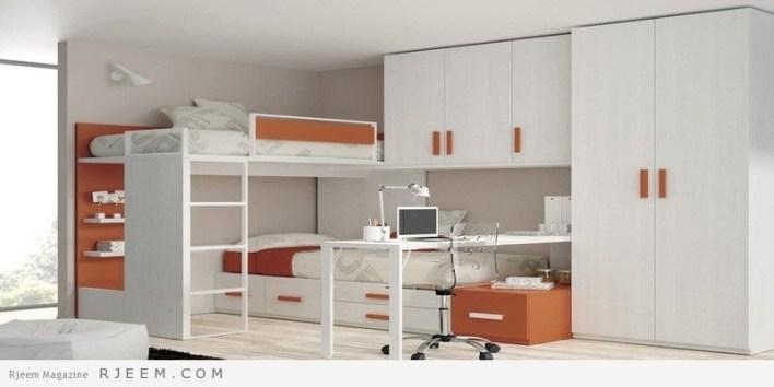ديكورات غرف نوم اولاد باللون الابيض