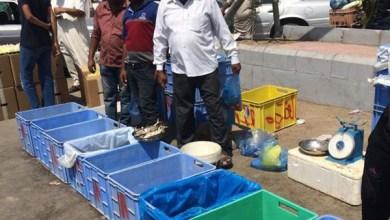 Photo of بالفيديو والصور: عمالة وافدة تبيع أسماكاً فاسدة ومجهولة المصدر بالرياض