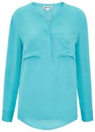 whistles-elsa-longline-silk-blouse-turquoise