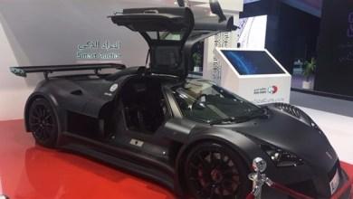 "Photo of بالصور: ""أبولو الفارهة"" إحدى أسرع السيارات في العالم تشارك بجيتكس2017"