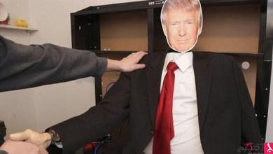 "Photo of بالفيديو: روبوت ""مصافحة ترامب المحرجة"" يثير ضجة عالمية"