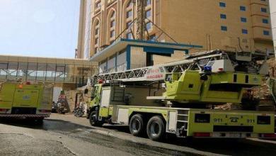 Photo of إخلاء 67 نزيلا إثر حريق فندق بمكة