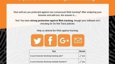Photo of موقع ويب يتحقق من حماية المتصفح ضد التتبع