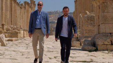 Photo of بالفيديو: الأمير وليام يزور مدينة جرش الأثرية في الأردن