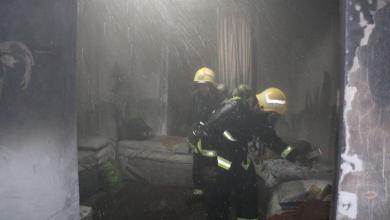 Photo of إخماد حريق في مبنى فندقي بمكة المكرمة