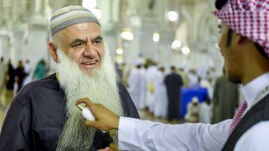 Photo of بالطيب والبخور.. إدارة الأبواب تستقبل الحجاج بالمسجد الحرام