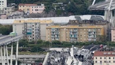 Photo of السلطات الإيطالية تزيل المركبات من أعلى جسر جنوة المنهار