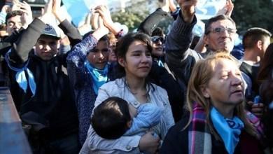 Photo of مظاهرات في الأرجنتين احتجاجاً على مشروع تشريع الإجهاض