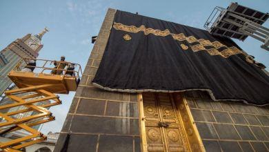 Photo of الكعبة المشرفة تكتسي ثوبها الجديد