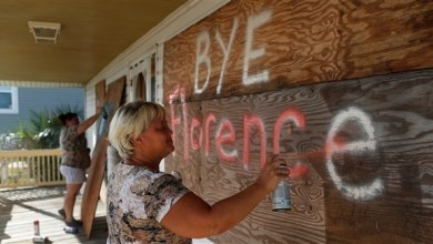 "Photo of تراجع قوة الإعصار ""فلورنس"" مع اقترابه من الساحل الأمريكي"