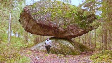Photo of بالصور والفيديو: لغز الصخرة الغريبة وكيف تبقى ثابتة لا تميل ولا تقع