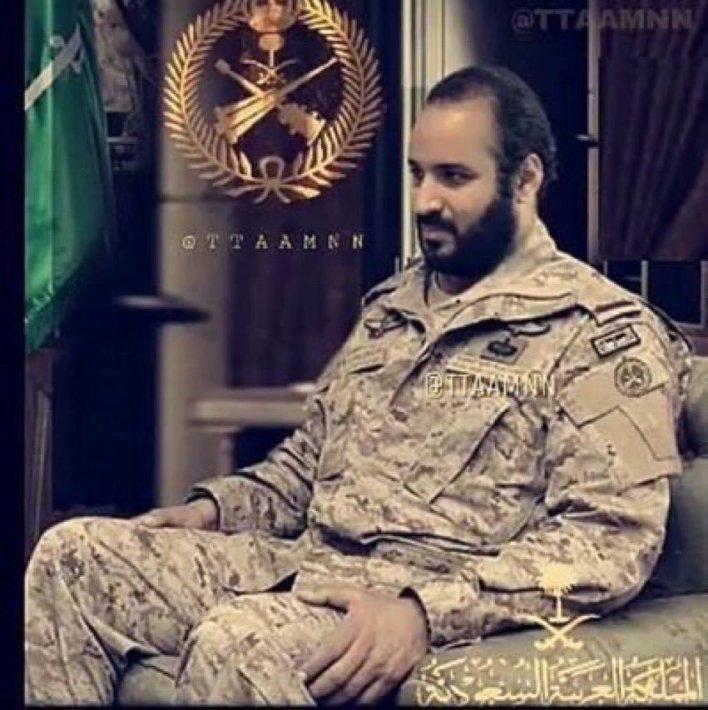 صور الامير محمد بن سلمان بالزي العسكري مجلة رجيم