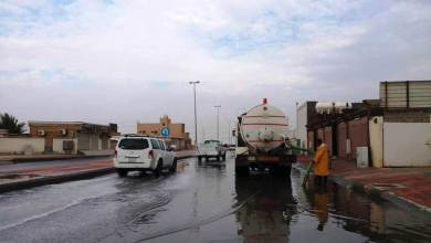 Photo of بلدية الخفجي تسحب أكثر من 117 ألف جالون من مياه الأمطار