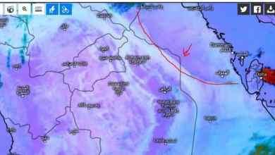 """Photo of """"المسند"""": كتلة غبار تشكلت في الشرقية وتتوجه إلى الرياض وسدير"""