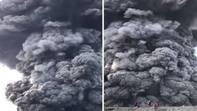 Photo of بالفيديو: مغامرون يتحدون المستحيل بالوصول إلى فوهة بركان نشط