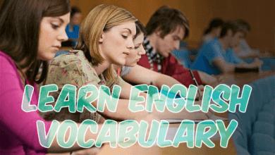 Photo of تعلم مجموعة مهمة من المفردات الإنجليزية الشائعة.
