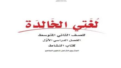 Photo of حل كتاب لغتي ثاني متوسط ف1