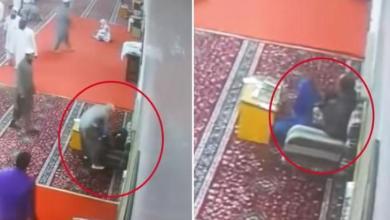 Photo of كاميرا ترصد وفاة عامل فجأة داخل مسجد بالرياض