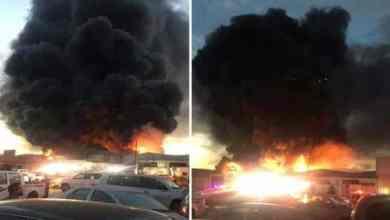 Photo of شاهد لحظة نشوب حريق هائل بالصناعية الجديدة في سكاكا .. والدفاع المدني يباشر!