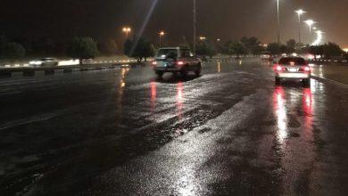 Photo of هطول أمطار غزيرة على منطقة تبوك.. والدفاع المدني يحذر
