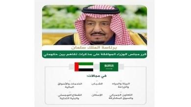 Photo of مجلس الوزراء السعودي يوافق على مذكرات تفاهم مع الإمارات