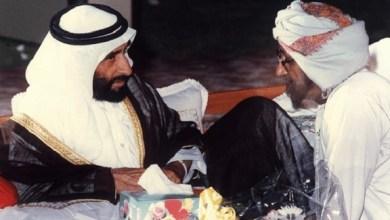 """Photo of سيف بن زايد: """"الشيخ زايد وسالم بن حم.. رفقة لها تاريخ"""""""
