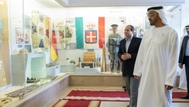 Photo of محمد بن زايد والرئيس المصري يزوران متحف العلمين الحربي
